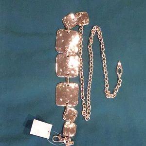 "Polished Gold Chain belt 42"" long"